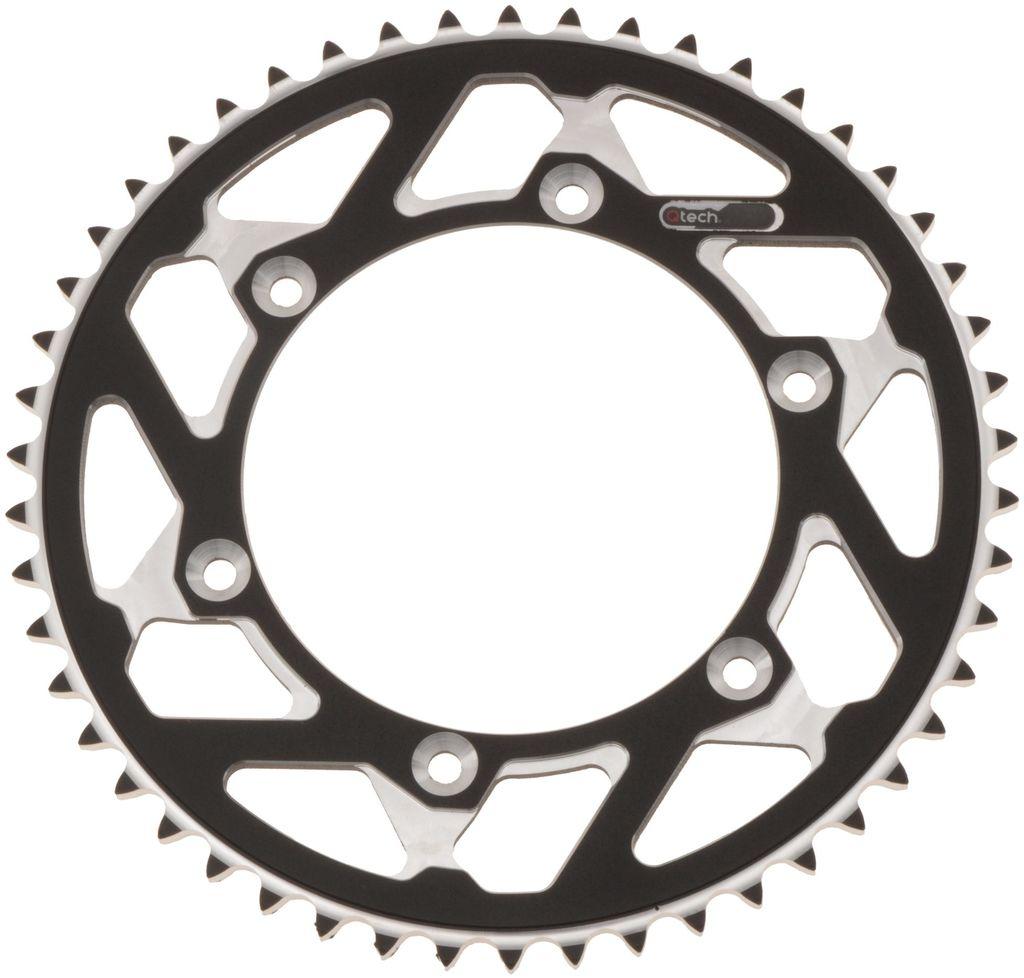 Obrázek produktu duralová rozeta MASTER pro sekundární řetězy typu 420, Q-TECH (stříbrný elox, 48 zubů) JTR894.48
