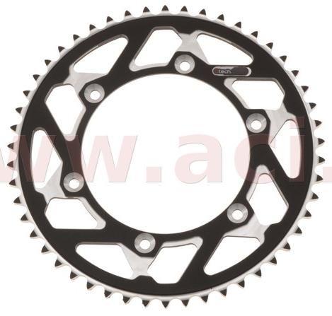 Obrázek produktu duralová rozeta MASTER pro sekundární řetězy typu 520, Q-TECH (černý elox, 50 zubů) JTR808.50 ČERNÁ