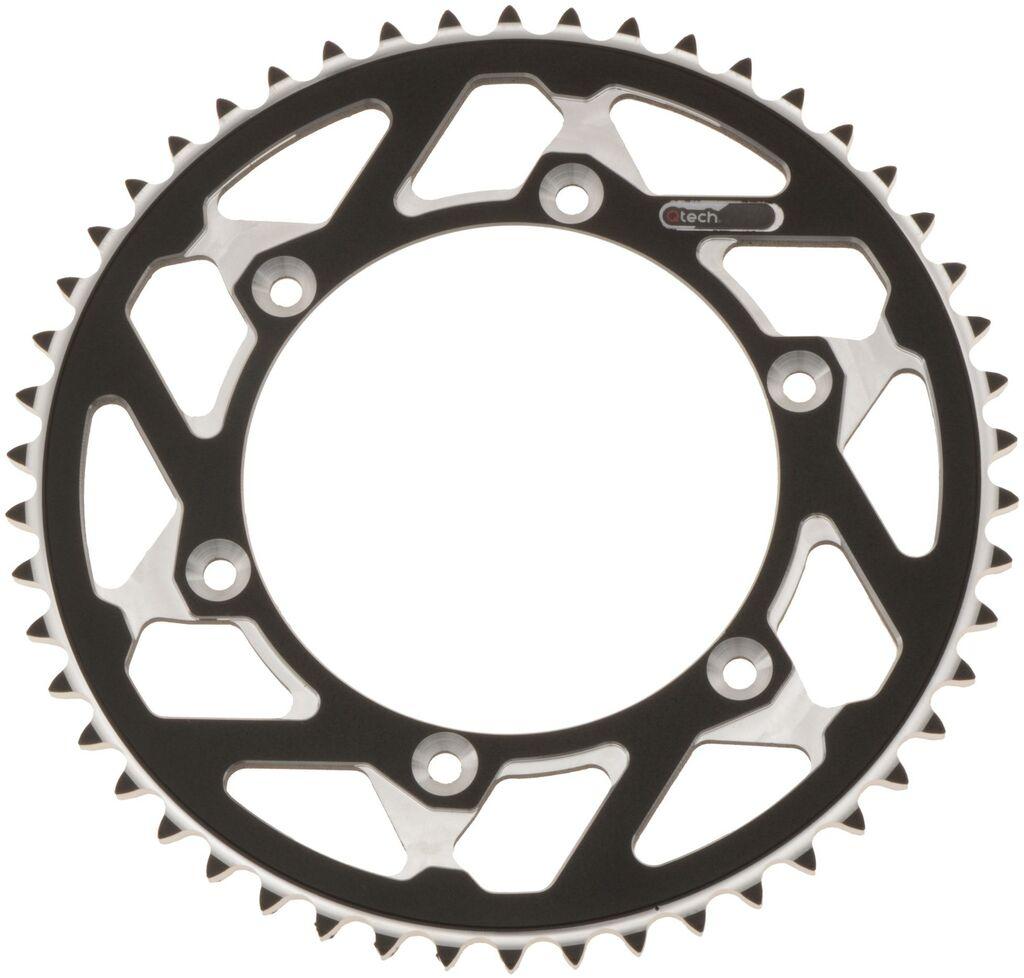Obrázek produktu duralová rozeta MASTER pro sekundární řetězy typu 520, Q-TECH (černý elox, 52 zubů)