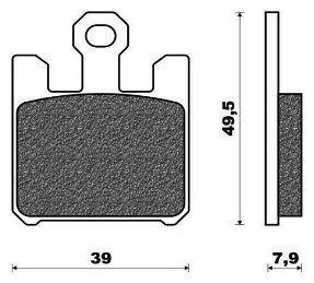 Obrázek produktu brzdové destičky, ACCOSSATO (směs EV2 racing) 4 ks v balení