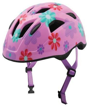 Obrázek produktu cyklo přilba FLOWERS JUNIOR, OXFORD, dětská (růžová) FLOWERSL