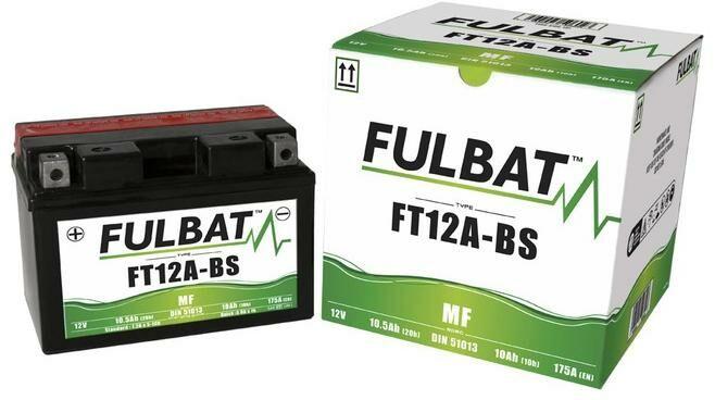 Obrázek produktu baterie 12V, FT12A-BS, 10Ah, 175A, bezúdržbová MF AGM 150x87x105, A-TECH (vč. balení elektrolytu) FULBAT