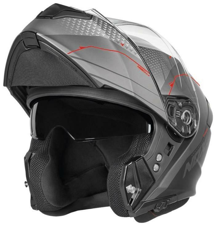 Obrázek produktu přilba N960 Shake, NOX (matná černá, červená) CASQN960SHAKENMROUGE
