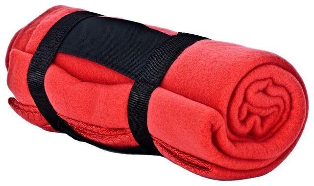 Obrázek produktu Červená deka ACI zabalena v ruličce - velikost 130 x 160 cm