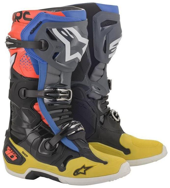 Obrázek produktu boty TECH 10 2020, ALPINESTARS (černá/žlutá/modrá/červená fluo) 2010019-1573