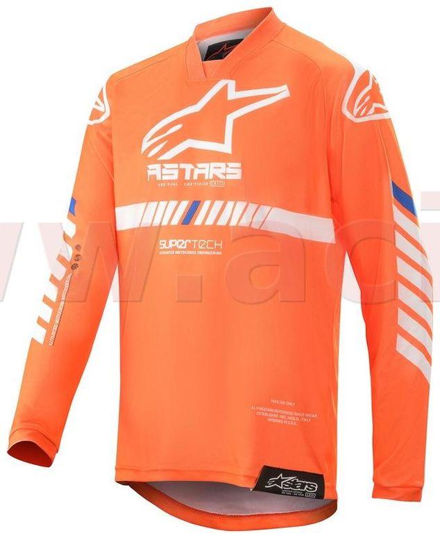 Obrázek produktu dres RACER TECH 2020, ALPINESTARS, dětské (oranžová fluo/bílá/modrá) 3770720-447