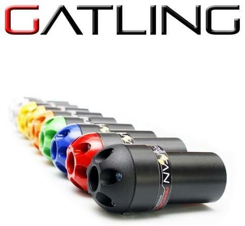 Obrázek produktu hlavice na rám GATLING s korunkami - pár (červená), RUTAN PERFORMANCE GA-SET-R