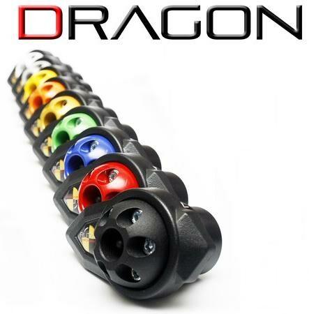 Obrázek produktu hlavice na rám DRAGON s korunkami - pár, (černá), RUTAN PERFORMANCE DR-SET-BK