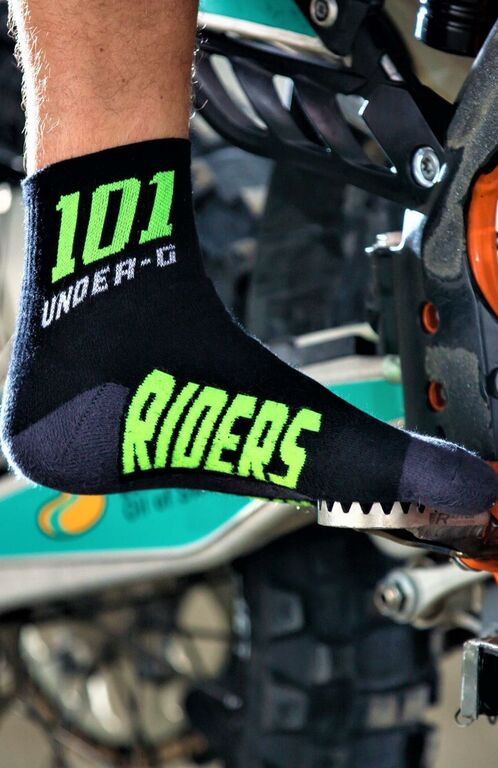 Obrázek produktu ponožky ACTION, 101 RIDERS černé/neon) 16078