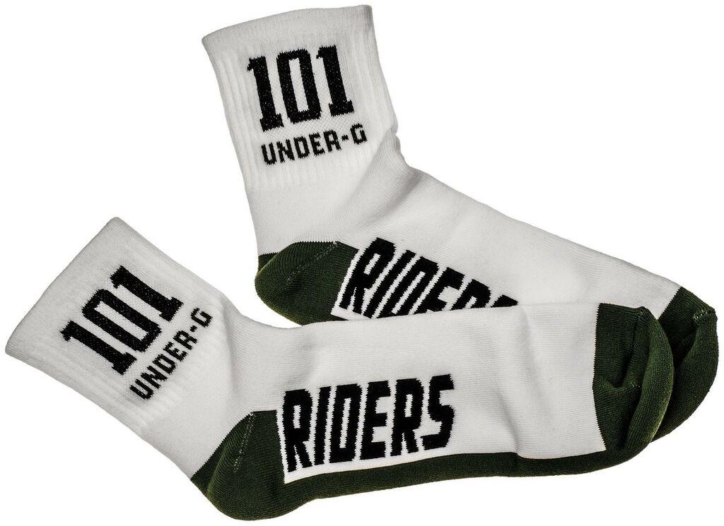 Obrázek produktu ponožky ACTION, 101 RIDERS (zelená/bílá) 19035