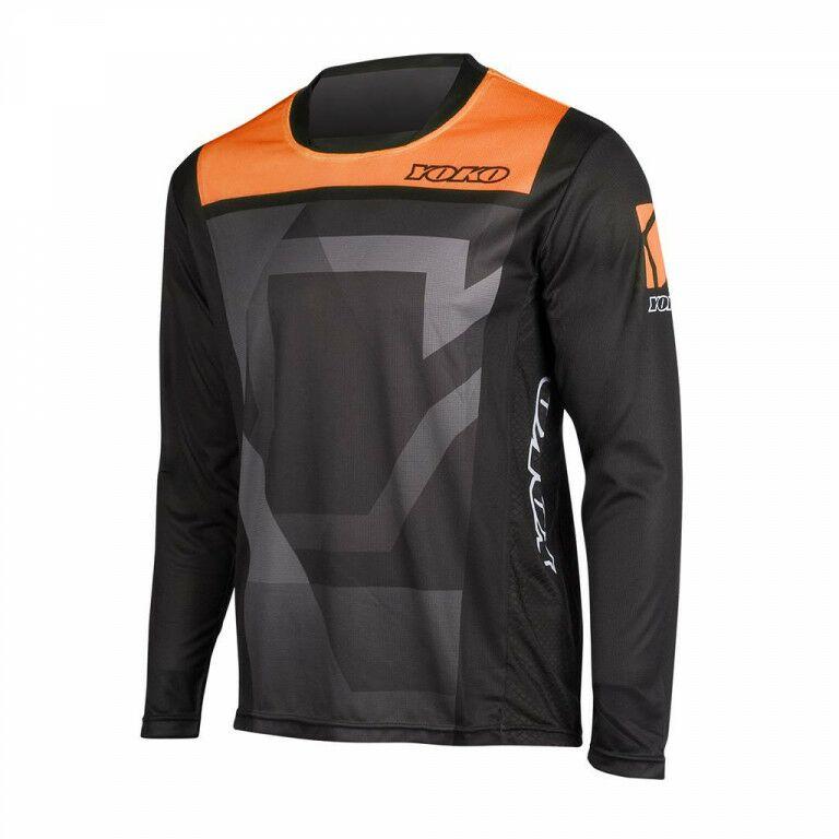 Obrázek produktu Motokrosový dres YOKO KISA černý / oranžový L 66-176603-L