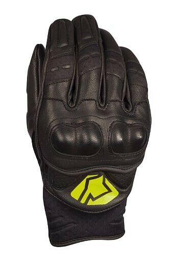 Obrázek produktu Krátké kožené rukavice YOKO BULSA černý / žlutý XS (6) 60-176042-6