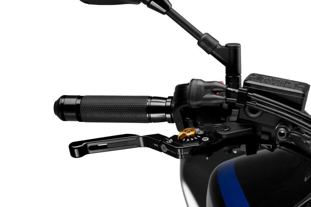 Obrázek produktu Páčka brzdy bez adaptéru PUIG rozšiřitelná skládací černá/zlatá