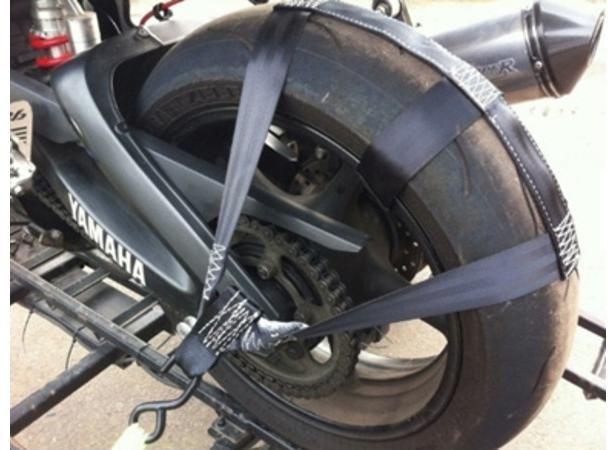 Obrázek produktu popruh pro uchycení přední nebo zadní moto pneu při transportu Q-TECH MTL-B001