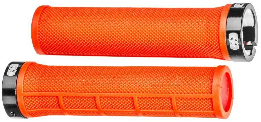 Obrázek produktu gripy LOCK-ON se šroubovacími objímkami a menší tl. úchopu, OXFORD (červené, délka 130 mm, 1 pár) HG801R