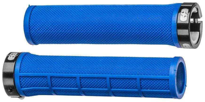 Obrázek produktu gripy LOCK-ON se šroubovacími objímkami a menší tl. úchopu, OXFORD (tmavě modré, délka 130 mm, 1 pár) HG801DU