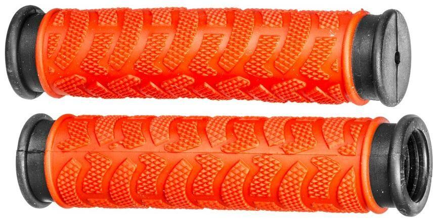 Obrázek produktu gripy MTB, OXFORD (červené/černé, dvoukomponentní, délka 127 mm, 1 pár) HG49R