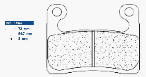 Obrázek produktu Brzdové destičky CL BRAKES A3+