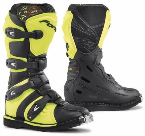 Obrázek produktu Dětské moto boty FORMA COUGAR černé/žluté fluo