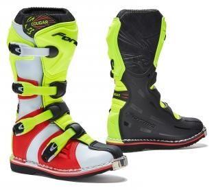 Obrázek produktu Dětské moto boty FORMA COUGAR černo/žluto/červené