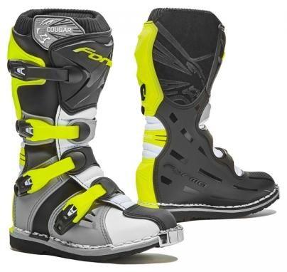 Obrázek produktu Dětské moto boty FORMA COUGAR šedo/bílo/žluté fluo