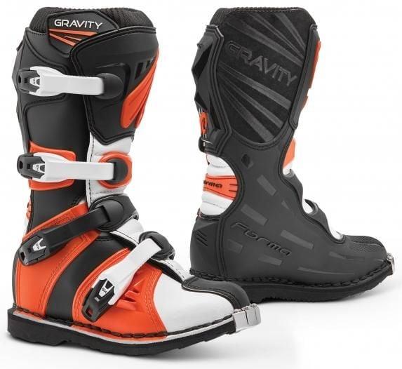 Obrázek produktu Dětské moto boty FORMA GRAVITY černo/oranžové