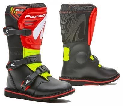 Obrázek produktu Dětské moto boty FORMA ROCK černo/červeno/žluté fluo