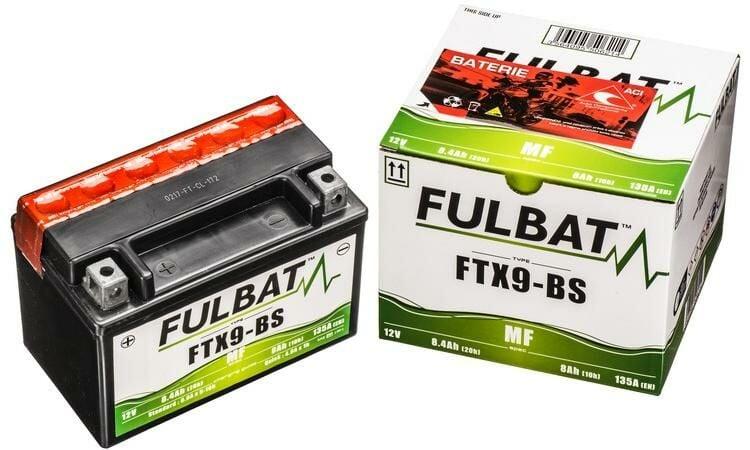Obrázek produktu baterie 12V, YTX9-BS, 8Ah, 120A, bezúdržbová MF AGM 150x87x105, FULBAT (vč. balení elektrolytu)