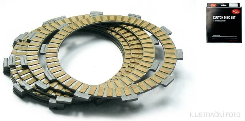 Obrázek produktu sada spojkových lamel, Tourmax (6+2 ks)