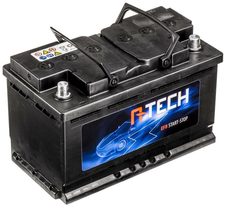 Obrázek produktu 80Ah EFB baterie START-STOP, 740A, pravá A-TECH 315x175x190 BA EFB80