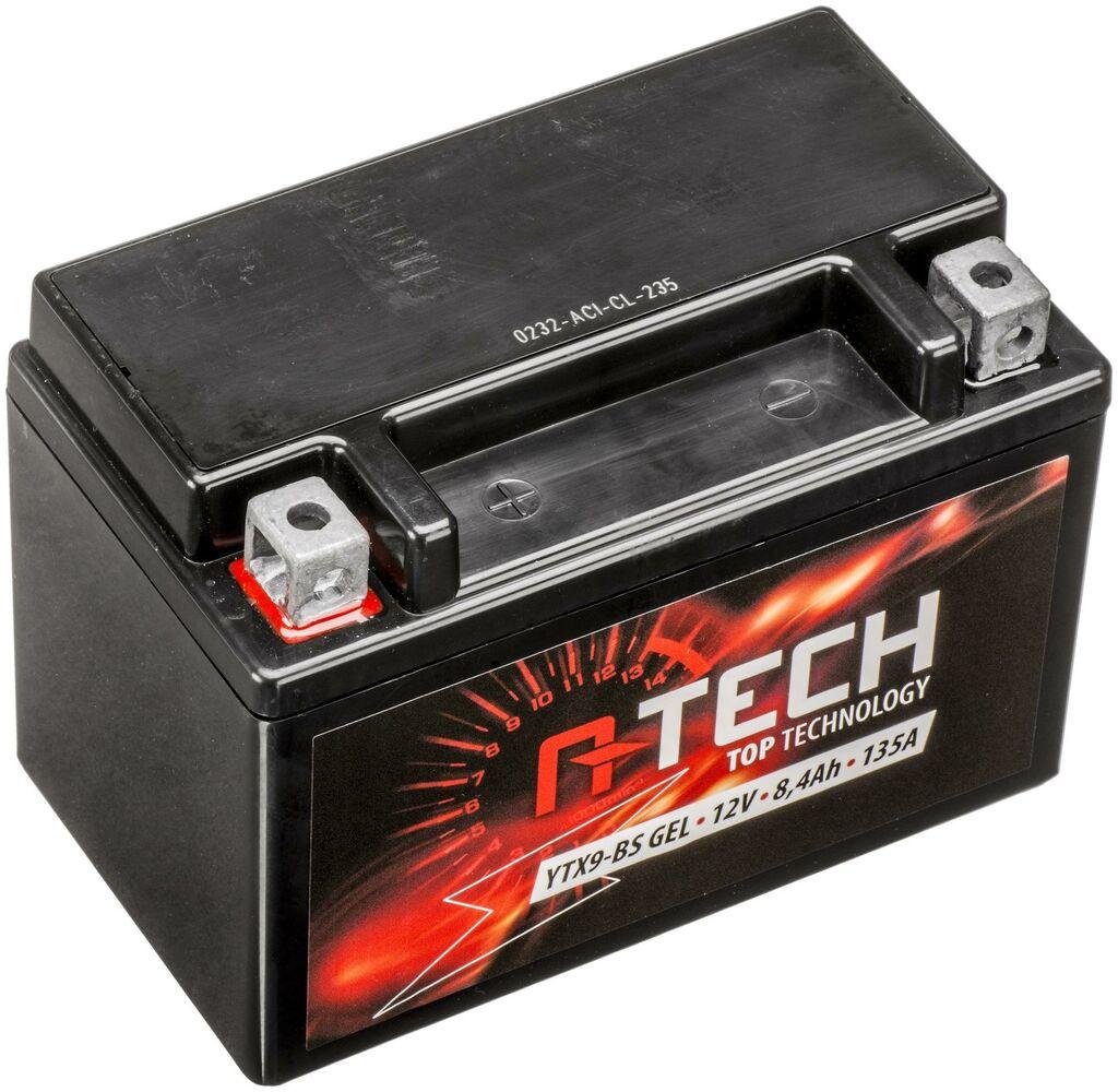Obrázek produktu baterie 12V, YTX9-BS GEL, 8,4Ah, 135A, bezúdržbová GEL technologie 150x87x105, A-TECH (aktivovaná ve výrobě)
