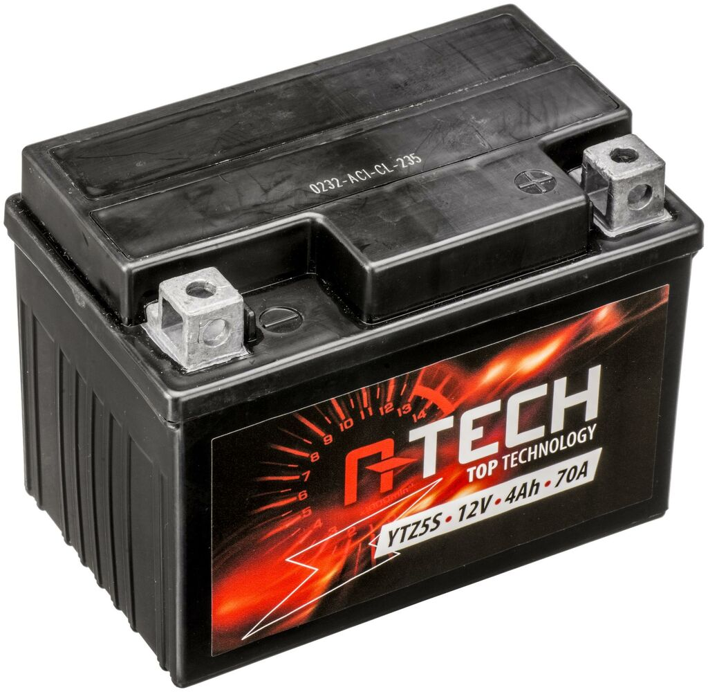 Obrázek produktu baterie 12V, YTZ5S, 4Ah, 70A, bezúdržbová MF AGM 113x70x85, A-TECH (aktivovaná ve výrobě)
